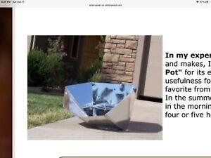 NIB Hot Pot Solar Oven $185 Cooker Portable Outdoor Survival Temps To 275 Degree