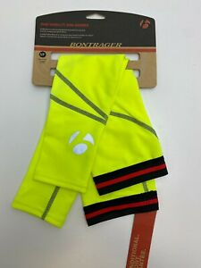 New Bontrager Visibility ARM WARMER winter Cycling Neon Yellow multiple sizes