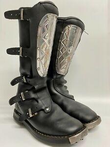Alpinestars Roger De Coster Vintage 1970's Black Leather Motocross Boots Size 40