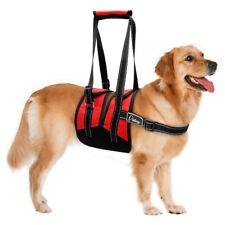 Hundegeschirr Tragegeschirr Hundelaufhilfe Hebehilfe Tragegurt 65-79cm Brust Rot