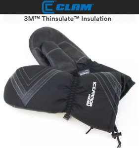 Clam Ice Armor Renegade Waterproof Ice Fishing Mittens (Select Size)