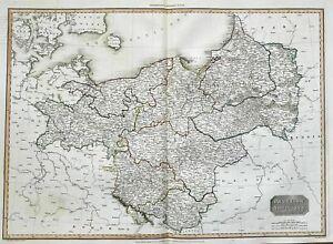 Prussia Polska Poland Polen Preussen Lithuania Russia Pinkerton map Karte 1815