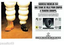PUBLICITE ADVERTISING 046  1994   les pneus Michelin  4x4 ( 2pages)