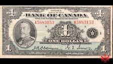 1935 Bank Of Canada 1$ English A5883153 - VF -