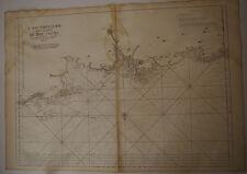 Carte marine Bretagne Morlaix époque  XVIII° Siècle Neptune Francais