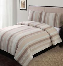 Home Classics Logan Stripe 3 Pc Duvet Set King Bed Comforter Cover