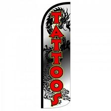 Tattoos Swooper Flag Only Windless 3' Wide Sign Banner Black Red