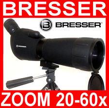 BRESSER ZOOM 20-60x 60mm SPOTTING SCOPE MONOCOLO CANNOCCHIALE TERRESTRE  NUOVO