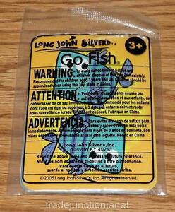 """MIP 2006 LE LONG JOHN SILVER'S """"GO FISH"""" - 8 PLAYING CARDS"""
