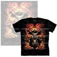 Demon Motorcycle Biker The Mountain Hand Dyed Tie Dye Black T Shirt XLarge SALE