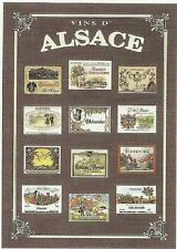 FRENCH VINTAGE POSTER 50x70cm WINE COUNTRY ALSACE FRANCE