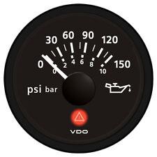 VDO VIEWLINE ONYX 150 PSI/10 BAR OIL PRESSURE GAUGE 12/24V
