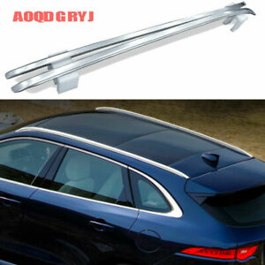 For Jaguar F-PACE 2016-2021 Silver Aluminum alloy Roof Rail Luggage Carrier Rack