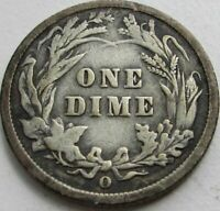 1899-O Barber Silver Dime in a SAFLIP® - Fine- (VG+)