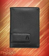 New Nixon Showup Card Bifold Black Faux Leather Wallet