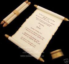 Scroll Wedding Invitation 1SAMPLE card invite rustic medieval birthday sweet 16