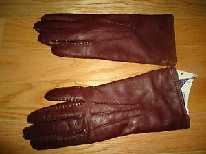 NWT $395 Ralph Lauren Collection Leather Cashmere Gloves sz 6.5