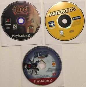 Sly Cooper, Dark Angel, Asteroids (Sony PlayStation 2 PS2) 3 Games! discs only