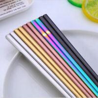 1 Pair Stainless Steel Eating Chopsticks Colorful Metal Chop Sticks Tableware