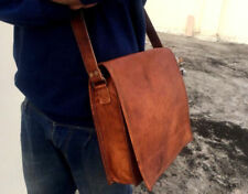 """Bag Leather Vintage Messenger Shoulder Men Satchel Laptop School Briefcase 11"""""""