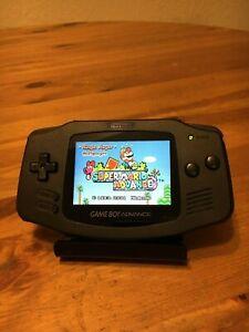 Nintendo GameBoy Game Boy Advance IPS V2 Backlit All Black Backlight NOT AGS 101