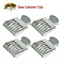 2pcs Metal Bee Queen Catcher Clip Stainless Cage Beekeeping Equipment Tool