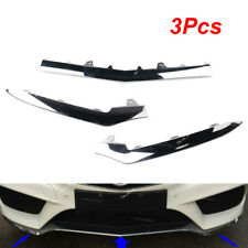 3Pcs For Mercedes-Benz E-Class W212 E350 Front Bumper Lower Chrome Trim Molding