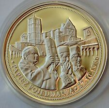 Commemorative coin 2007, Pope John Paul II, Reconciliation, Silver medal, COA