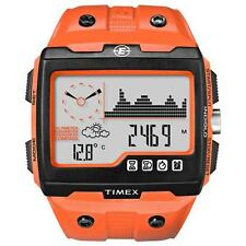 New Timex Expedition WS4 Watch T49761 Orange Altimeter Compass Barometer ABC