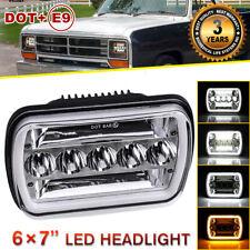 "1pc 7x6"" 5x7"" Rectangular led headlight halo ring eye for Dodge W150 W250 W350"