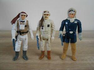 Vintage Star Wars Lot Luke Hoth Han Hoth Rebel Commander 1980