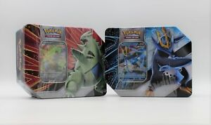 2 Pokemon Trading Card Game Battle Styles V Strikers Tin Empoleon & Tyranitar