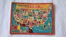 1950s-60s  United States Inlaid Map Puzzle Saalfield