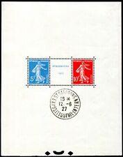 Francia 1927 bloque 2 con sello en el bloque borde marcas ** post frescos (s7903