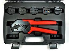 7pcs Quick Change Ratchet Crimping Tool Kit Wire Terminals Flag Open Barrel Pin