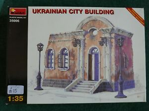 MiniArt 1/35 scale Ukrainian city building with Soviet posters UNMADE MODEL KIT