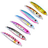 7Pcs/Pack 100g Micro Jig Butterfly Metal Jigs Tuna Snapper Fish Slow Pitch Lures