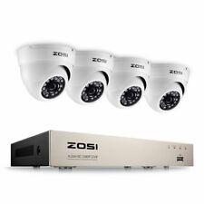 ZOSI 4CH 1080p Enregistreur DVR avec 4 Caméras Dôme en Blanc (0603161928178)