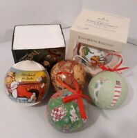 Vintage Christmas Ornaments Lot Of 6
