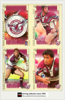 2003 Select NRL XL Series Trading Card Base Team Set Sea Eagles(12)