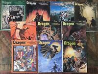Lot 10 Vintage 1982 1983 Dragon Magazine D&D TSR Dungeon RPG Issues  #60-69