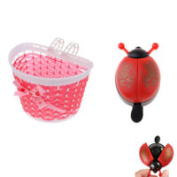 2X Novelty Kids Bicycle Boys Girls Bike Ladybird Bug Bell & Handlebar Basket