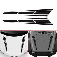 Car Front Hood Body Door Sticker Racing Stripes Vinyl Graphics Decals Universal