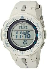 Casio Pro Trek Men's Quartz Triple Sensor White Resin 47mm Watch PRG300-8