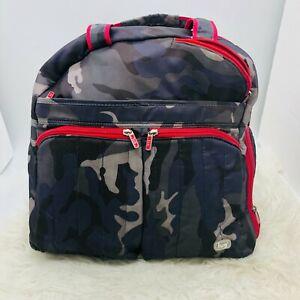 Lug Propeller Gym Overnight Duffel Bag Camo Purple & Gray - Missing strap