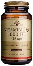 Solgar Vitamin D3 25ug (1000 IU) 250 Softgels
