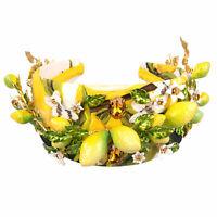 DOLCE & GABBANA RUNWAY Lemon Headband Hairband Crown Crystal Flower Yellow 07565