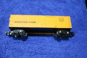 AMERICAN FLYER   639 AMERICAN FLYER ( AF )  YELLOW PLASTIC REEFER