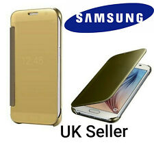 Genuine Official Samsung Galaxy S6 Clear View Flip Cover Case EF-ZG920BFEGGW