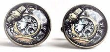Steampunk Gears Cufflinks in antiqued bronze finish